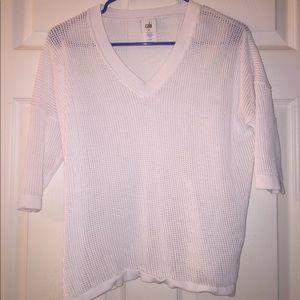 Women's White Knit Sweater